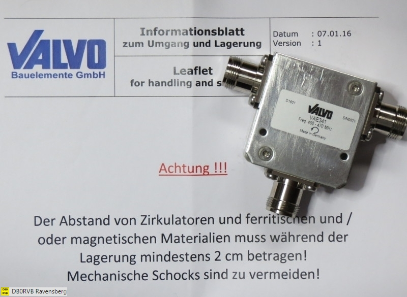 Zirkulator für 400 ... 470 MHz